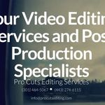 Pro Cuts Editing Services profile image.